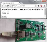 Web Server Led On/Off function, Running at POE.(Power Over Ethernet)